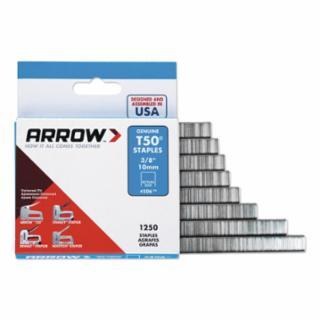 Arrow Fastener 091-50624 T50® Type Staples, 3/8 in L x 3/8 in W, 1,250/PK