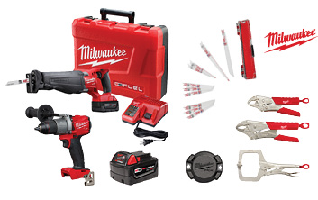 FREE $100 Bass Pro Giftcard with Purchase - M18 Fuel Sawzall/Hammerdrill Package
