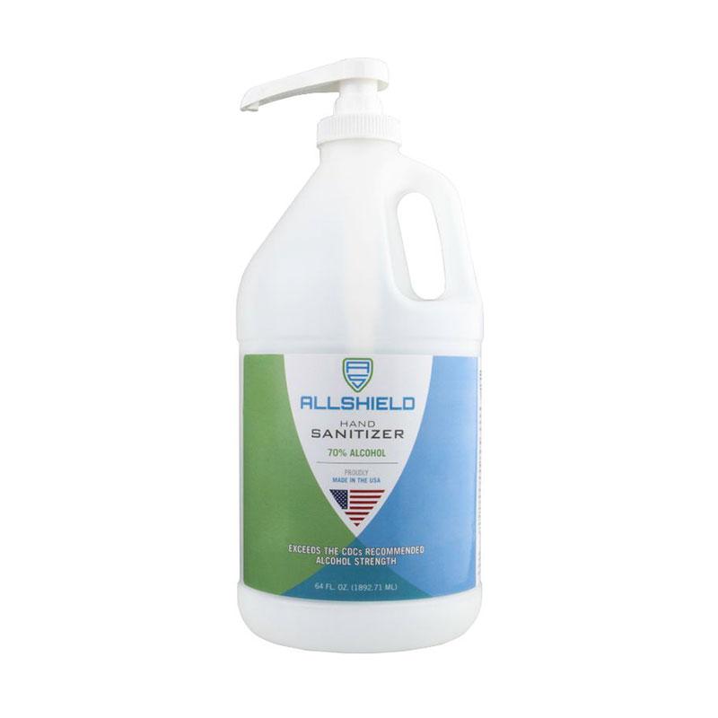 Allshield 22564 Gel Hand Sanitizer, Pump Bottle, 64oz