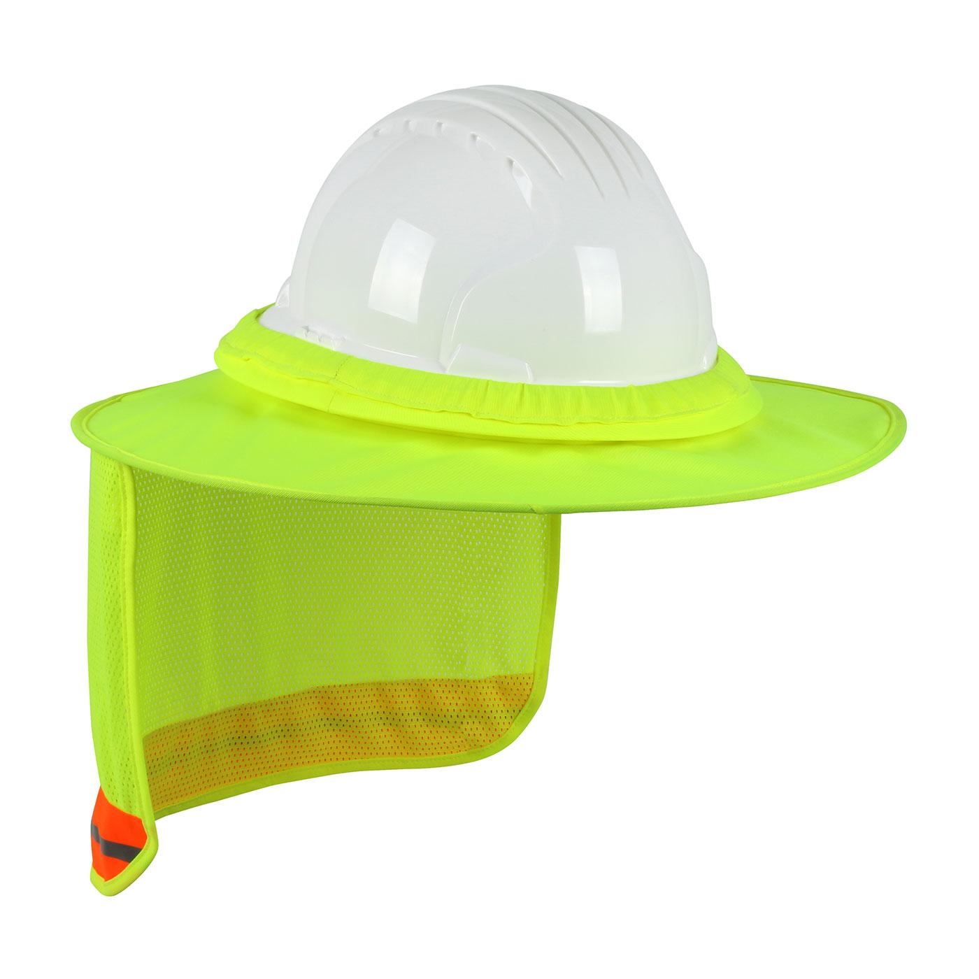 PIP 396-850 EZ-Cool Hi-vis Full Brim Hard Hat Visor and Neck Shade, Yellow