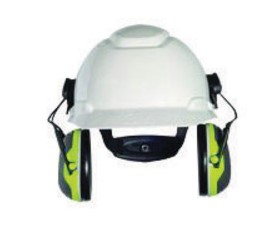 3M™ PELTOR™ X4 Earmuffs X4P3E, Hard Hat Attached, 10/Case