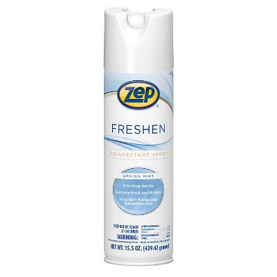 Zep 1050017 Freshen Disinfectant Spray Aerosol Mist, 15.5oz