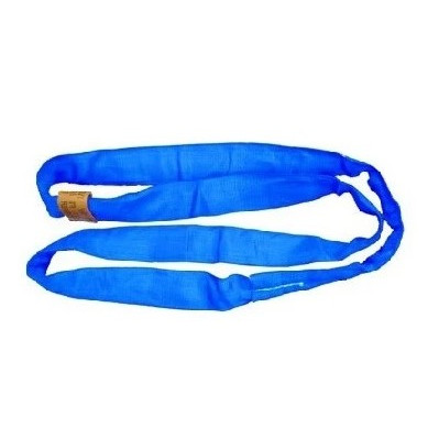 All Material Handling DR7 Double Jacket Round Sling, Polyester, Blue