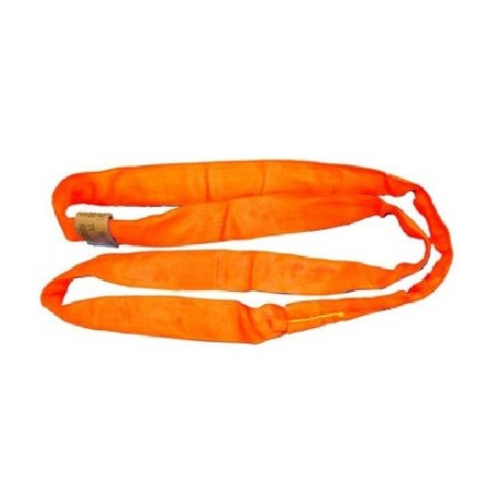 All Material Handling DR9 Double Jacket Round Sling, Polyester, Orange, Various Sizes