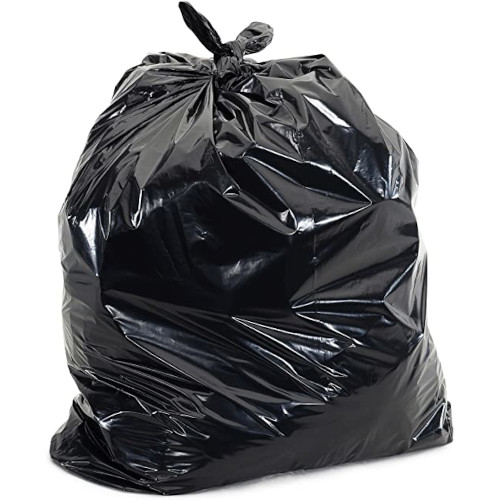 """60 Gallon Can Liner, Black, 38"""" x 58"""", 0.7 mil, 100 bags/case"""