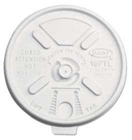 Lift & Lock Plastic Hot Cup Lid, Translucent, 1000/case