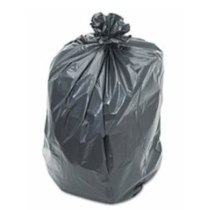"""60 Gallon Can Liner, Gray, 38"""" x 58"""", 1.3 mil, 100 bags/case"""
