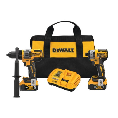 DeWALT® DCK2100P2 20V MAX* Brushless Cordless 2-Tool Kit Incl Hammer Drill/Driver with Flexvolt Advantage™