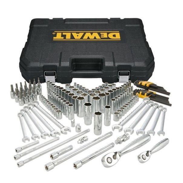 DeWALT® DWMT72164 Mechanic's Tool Set, Case Tool Storage, 1/4 in Drive, 156 Pieces