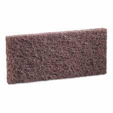 "Essendant, 403 Brown Heavy Duty Scrub Pad, 4"" x 10"", Brown, Polyester Nylon Fiber"
