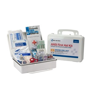 25 Person ANSI A, Type III First Aid Kit with Plastic Case