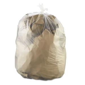 """60 Gallon Can Liner, Clear, 38"""" x 58"""", 2 mil, 100 bags/case"""