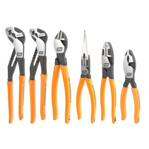 GEARWRENCH® 82204 Pitball Dipped Handle Mixed Plier Set, 6 piece