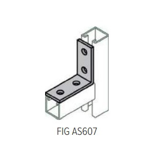 AS607 90 Degree Angle Connector, 4 hole, Galvanized Steel