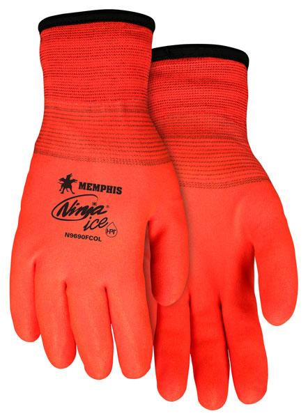 Memphis Ninja@reg; N9690FCO Ice Fully Coated Orange 15 Gauge, Arctic Terry Inner, HPT Fully Coated