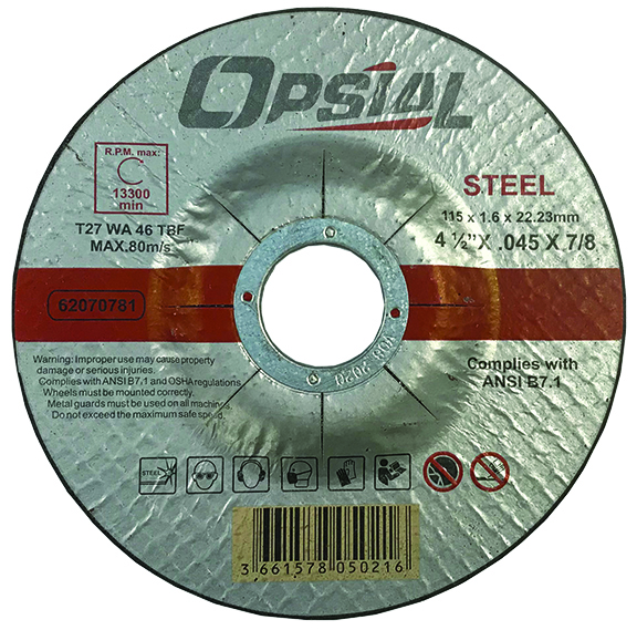 Opsial 4-1/2 X .045 X 7/8 Type 27 Cut-off Wheel
