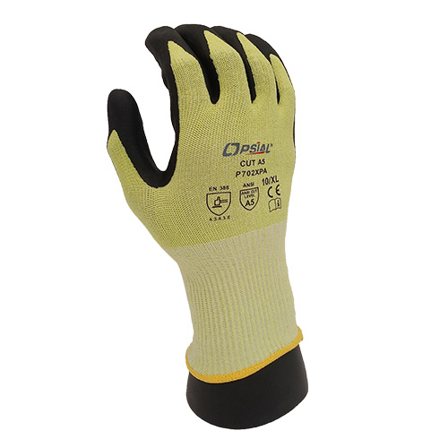 Opsial P702XPA Cut Resistant Gloves, Lime, ANSI A5