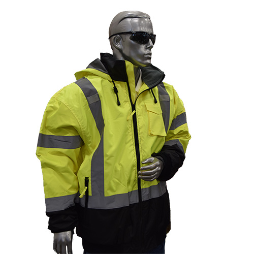 Opsial P702LUM Class 3 Bomber Jacket, Lime