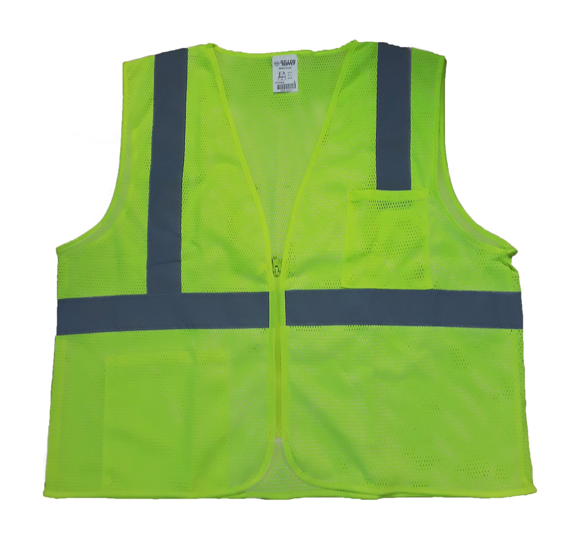 Opsial P702KHK Hi-Viz Lime Class 2 Mesh Vest