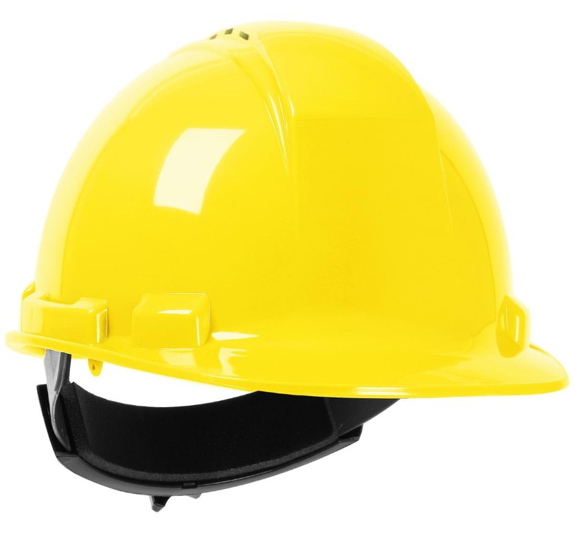 PIP 280-HP241RV-02 Cap Style Whistler Vented Hard Hat, Yellow