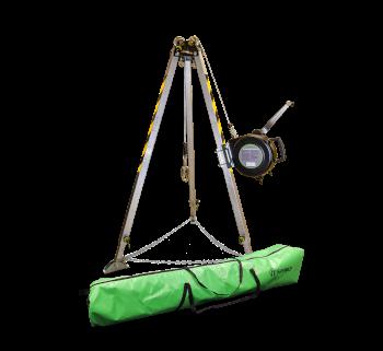 Safewaze 019-11002 7' Adjustable Tripod Kit with 65' 3-Way and Storage Bag