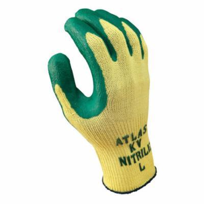 Atlas® by Showa Best KV350S-07 Cut Resistant Gloves, S/SZ 7, Nitrile Coating, Nitrile, Knit Wrist Cuff, Resists: Abrasion, Cut, Oil, Puncture and Slash, ANSI Cut-Resistance Level: 3